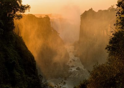 Victoria Falls at dawn, Zimbabwe